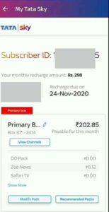 how to add channels in tata sky