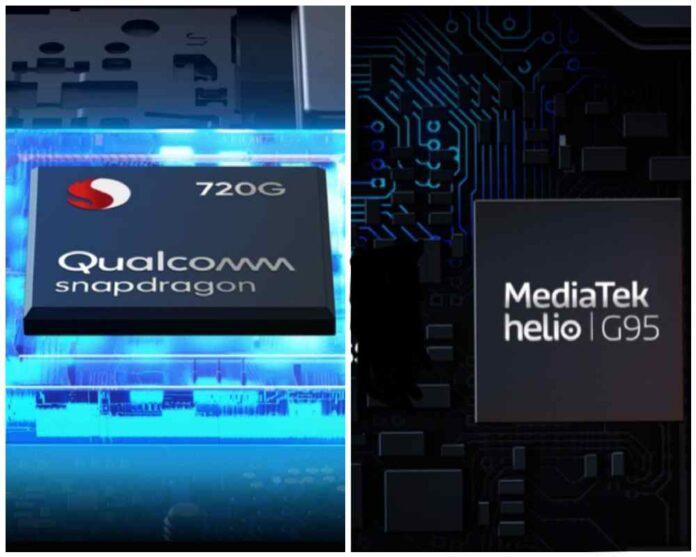 mediatek helio g95 vs snapdragon 720g